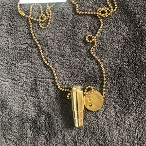 Half United Fighting Hunger Necklace Gold NEW